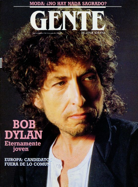 gente magazine Bob Dylan cover story