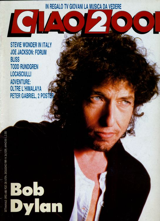 ciao 2001 26 magazine Bob Dylan cover story