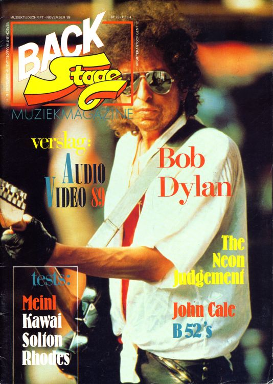 back stage holland magazine Bob Dylan cover story