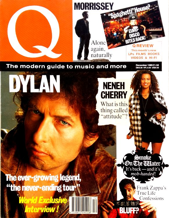 Q magazine December 1989 Bob Dylan cover story