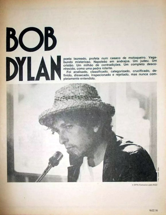 bizz supplement magazine Bob Dylan cover story