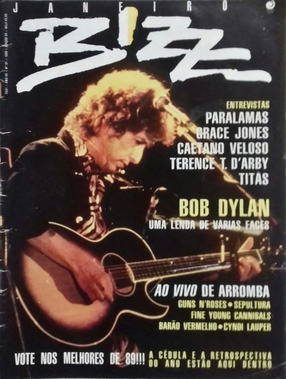 bizz january 1990 Bob Dylan cover story