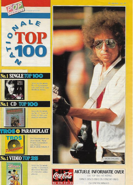 Nationale Top 100 magazine Bob Dylan cover story