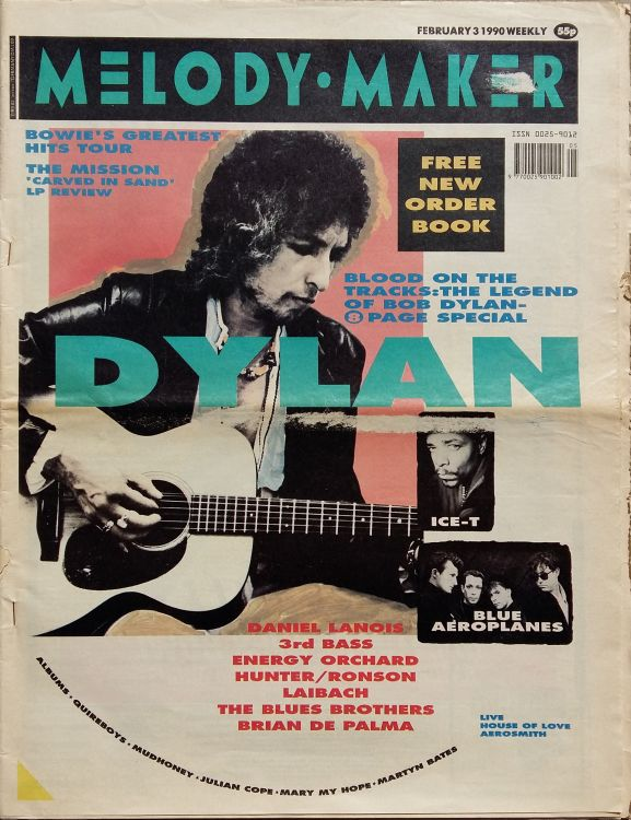 Melody Maker 3 February 1990 Bob Dylan cover story
