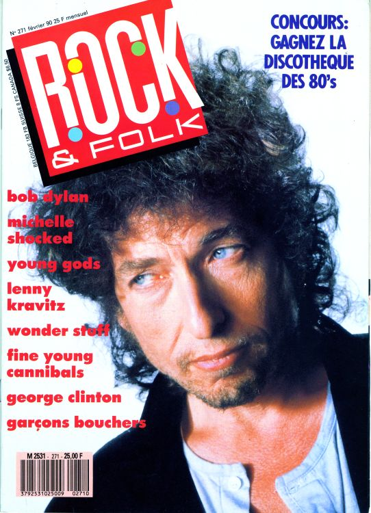 rock & folk magazine france #271 Bob Dylan cover story