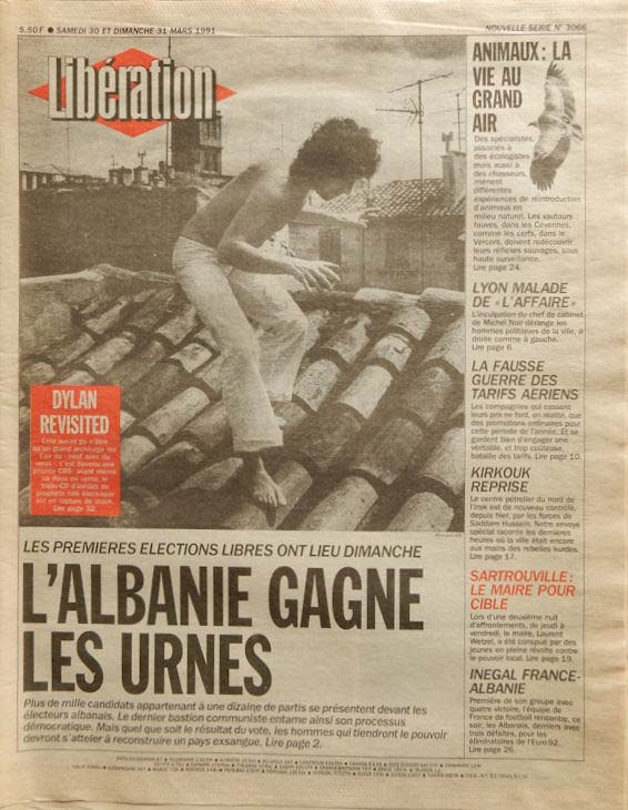 liberation french newspaper 1990 03 30 Bob Dylan cover story