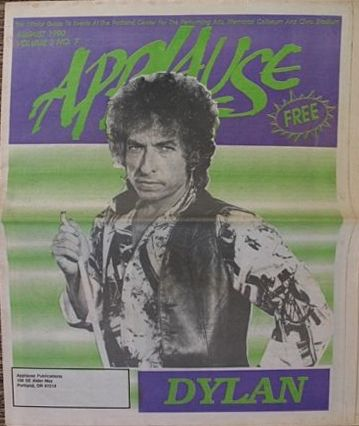 applause portland oregon magazine Bob Dylan cover story
