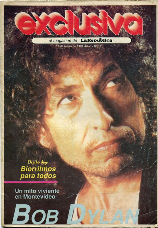 Exclusiva 1991 la Republica supplement Bob Dylan cover story