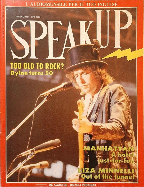 speak up Italy #55 magazine Bob Dylan cover story
