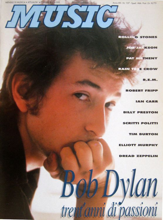 Music magazine italy Bob Dylan cover story