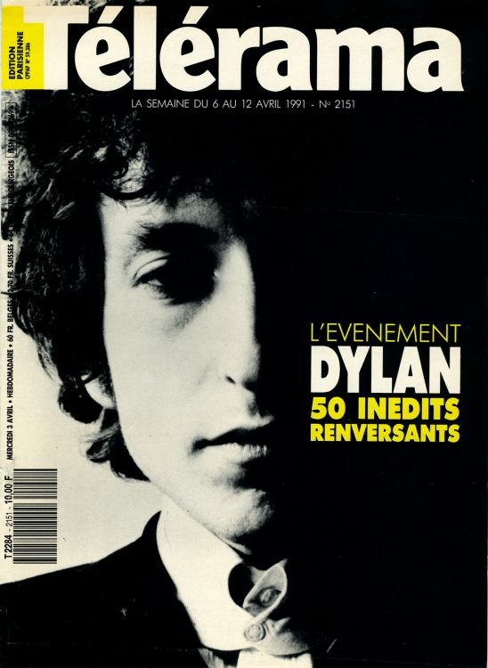 telerama magazine 6 April 1991 france Bob Dylan cover story