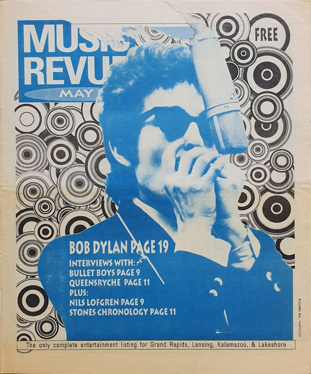 music revue may 1991 magazine Bob Dylan cover story