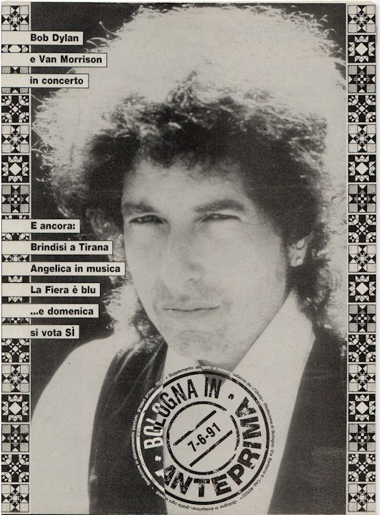 bologna in anteprima magazine Bob Dylan cover story