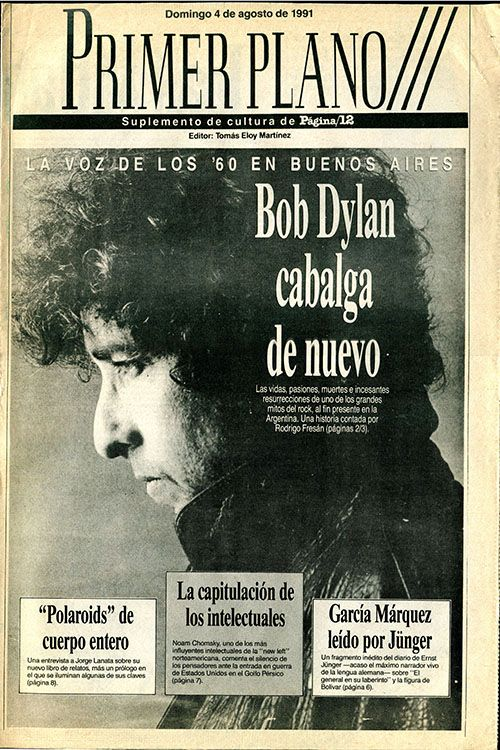 primer plano pagina 12 4 August 1991 magazine Bob Dylan cover story