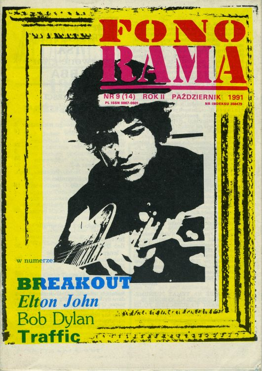 fonorama magazine Bob Dylan cover story