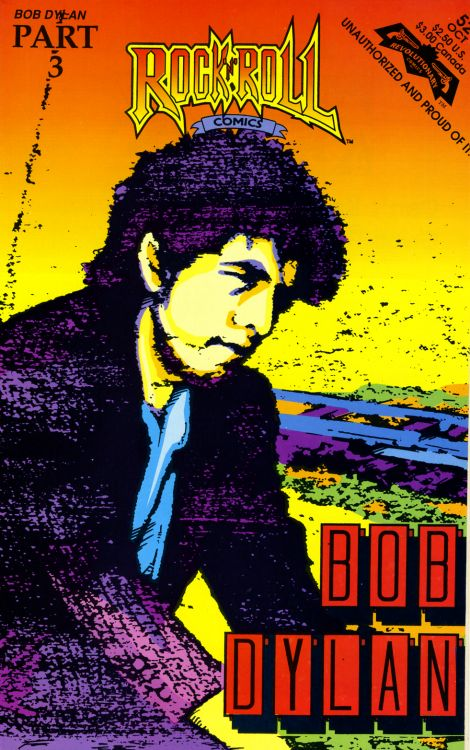 rock 'n' roll comics #52 magazine Bob Dylan cover story