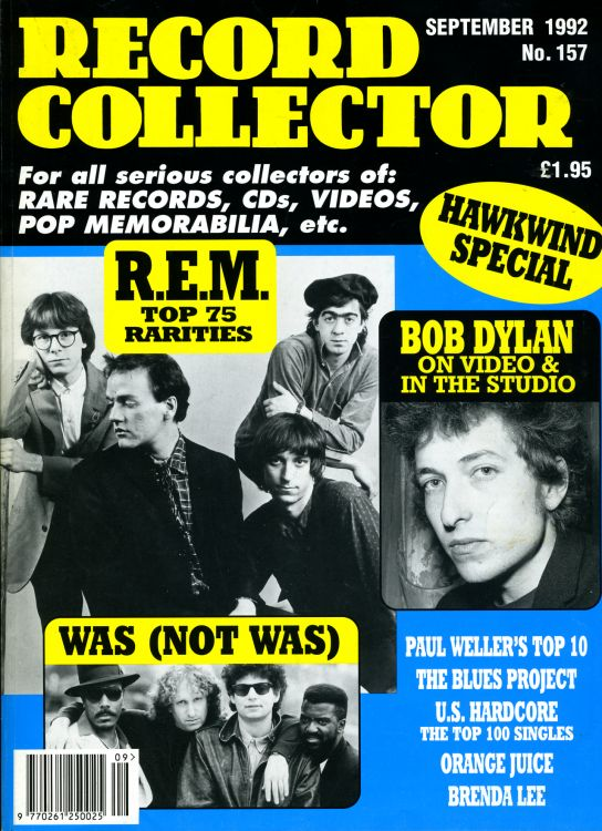 record collector magazine #157 uk Bob Dylan cover story