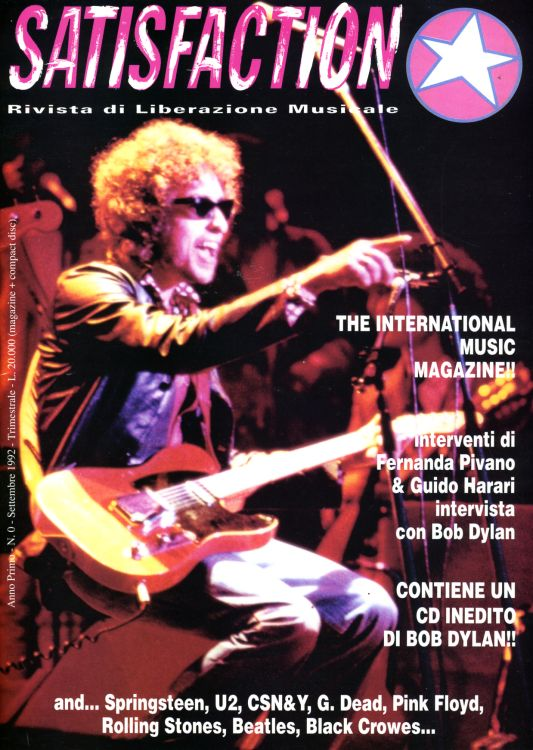 satisfaction magazine Bob Dylan cover story