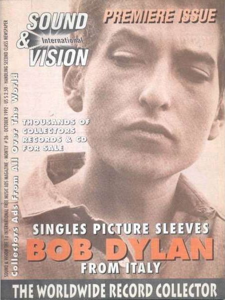 sound & vision italy magazine Bob Dylan cover story