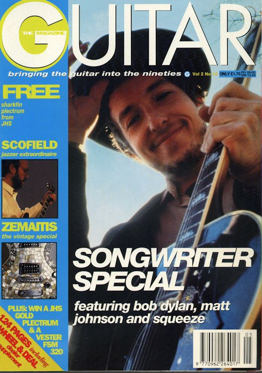 the guitar magazine uk Bob Dylan cover story