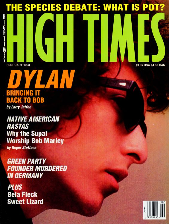 high times 1990 magazine Bob Dylan cover story
