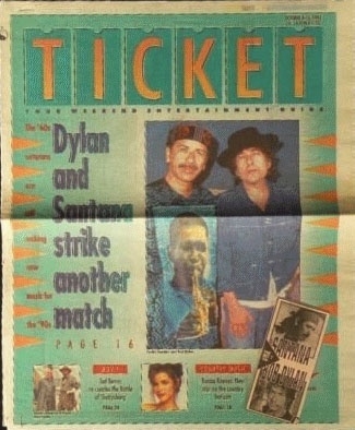 ticket magazine Bob Dylan cover story