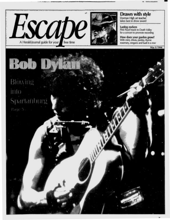 Escape 1994 Bob Dylan cover story