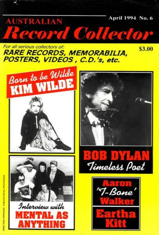 australian record collector magazine Bob Dylan cover story