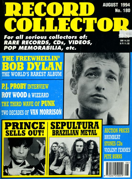 record collector magazine #180 uk Bob Dylan cover story