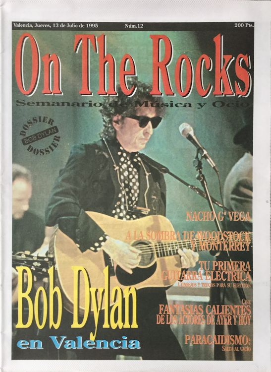 on the rocks magazine Bob Dylan cover story
