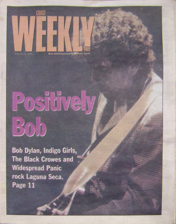 coast weekly magazine Bob Dylan cover story