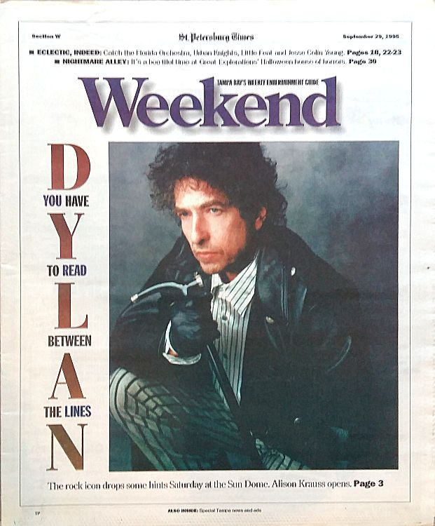 weekend magazine st petersburg times 1995 Bob Dylan cover story