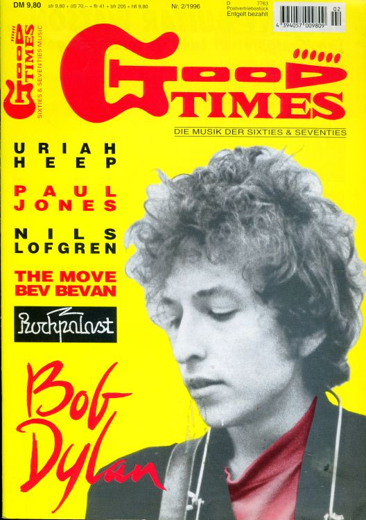 good times germany 1996 magazine Bob Dylan cover story
