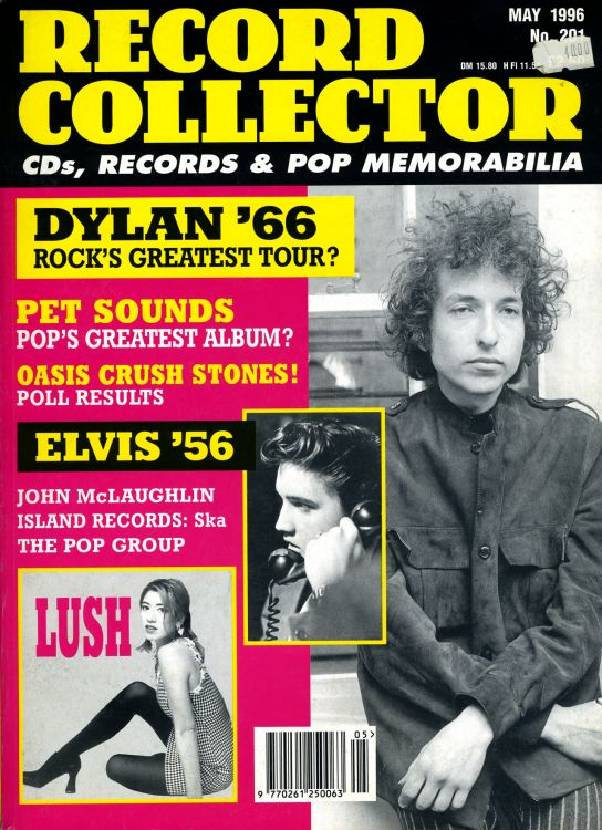 record collector magazine #201 uk Bob Dylan cover story