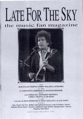 late for the sky 1997 magazine Bob Dylan cover story