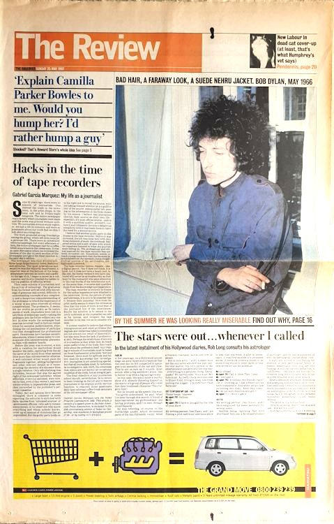 The Observer, Review 25 May 1997 Bob Dylan cover story