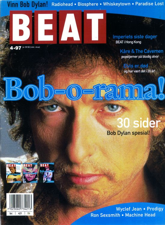 beat norway magazine cover 1997 #1 Bob Dylan cover story