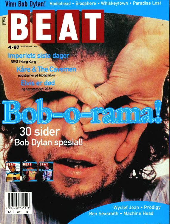 beat norway magazine cover 1997 #2 Bob Dylan cover story