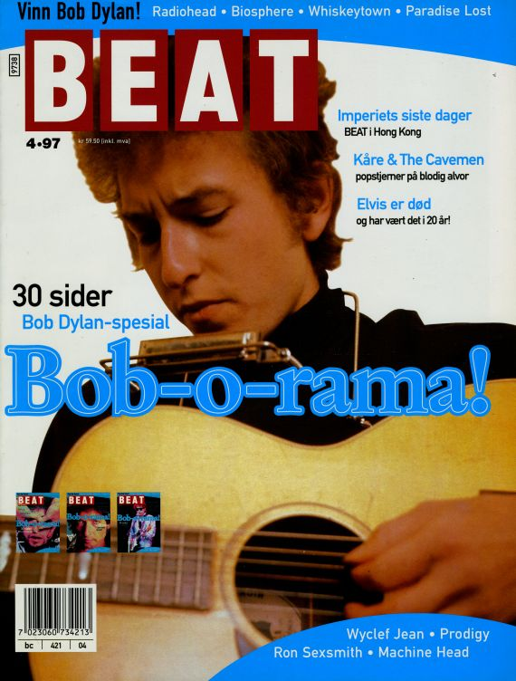 beat norway magazine cover 1997 #3 Bob Dylan cover story
