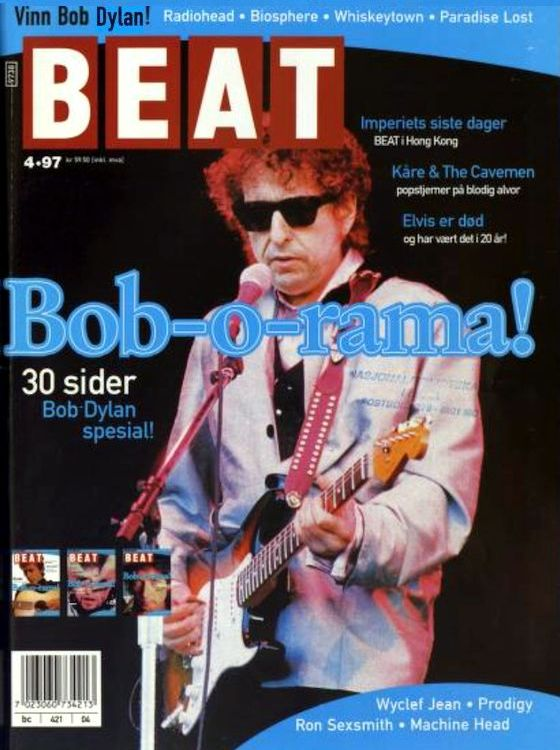 beat norway magazine cover 1997 #4 Bob Dylan cover story