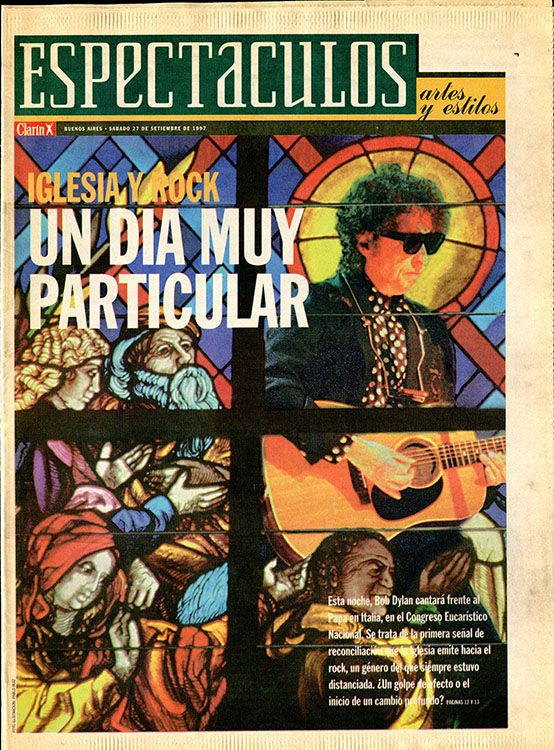 clarin argentina supplement Bob Dylan cover story