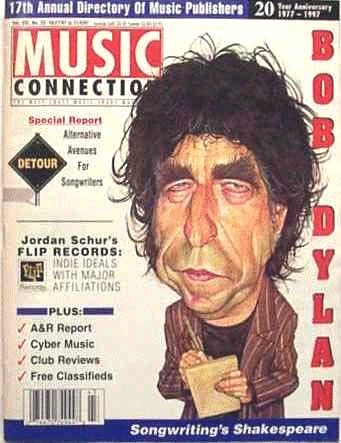 music connection magazine Bob Dylan cover story