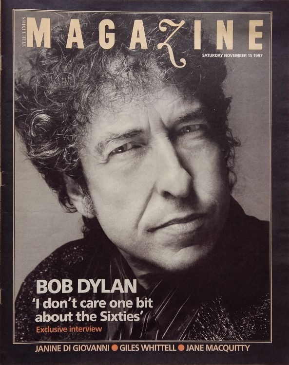 the times uk supplement 15 November 1997 Bob Dylan cover story
