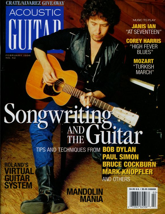 acoustic guitar usa 1998 magazine Bob Dylan cover story