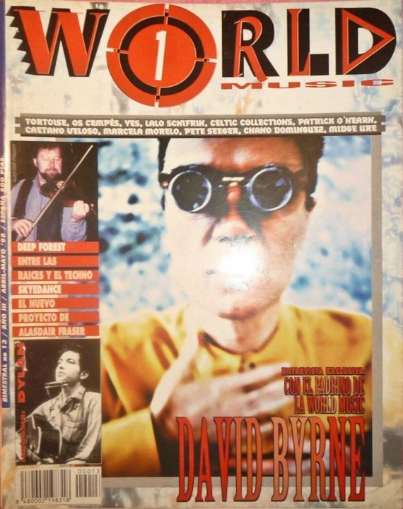 world music magazine Bob Dylan cover story