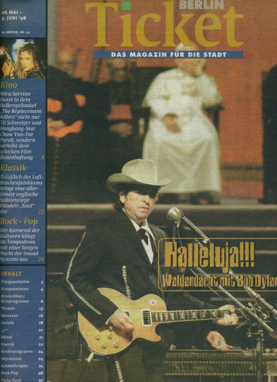berlin ticket magazine Bob Dylan cover story