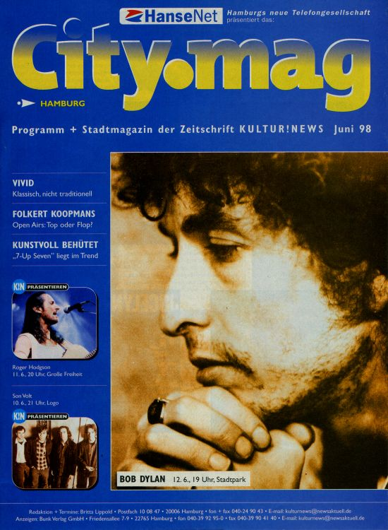 city mag magazine Bob Dylan cover story