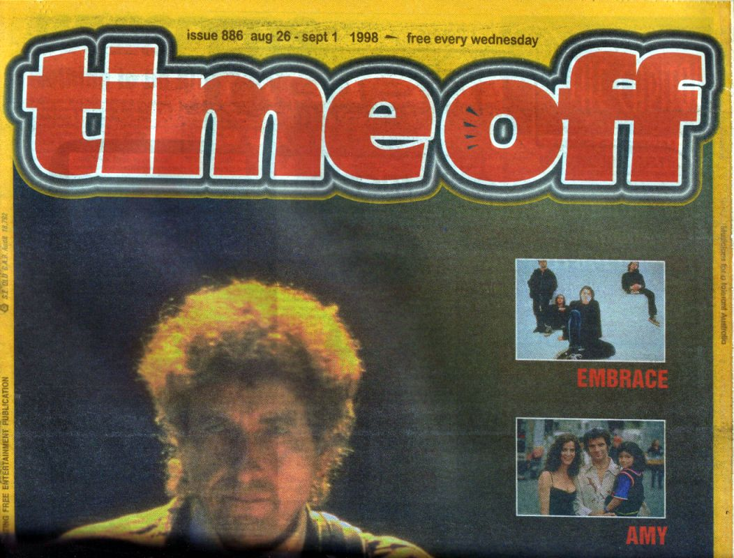 time off magazine Bob Dylan cover story
