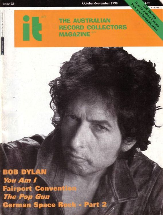 it the australian record collector magazine Bob Dylan cover story
