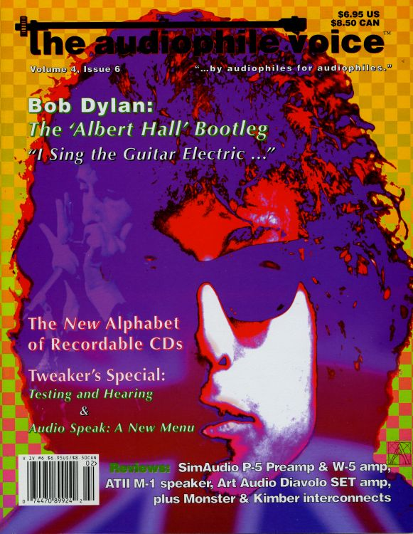 the audiophile voice 1998 magazine Bob Dylan cover story